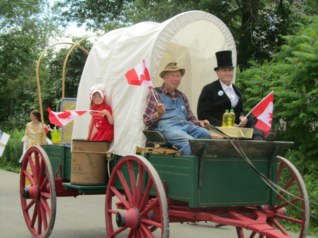 Frank Cooper & Bill Hutchinson on wagon