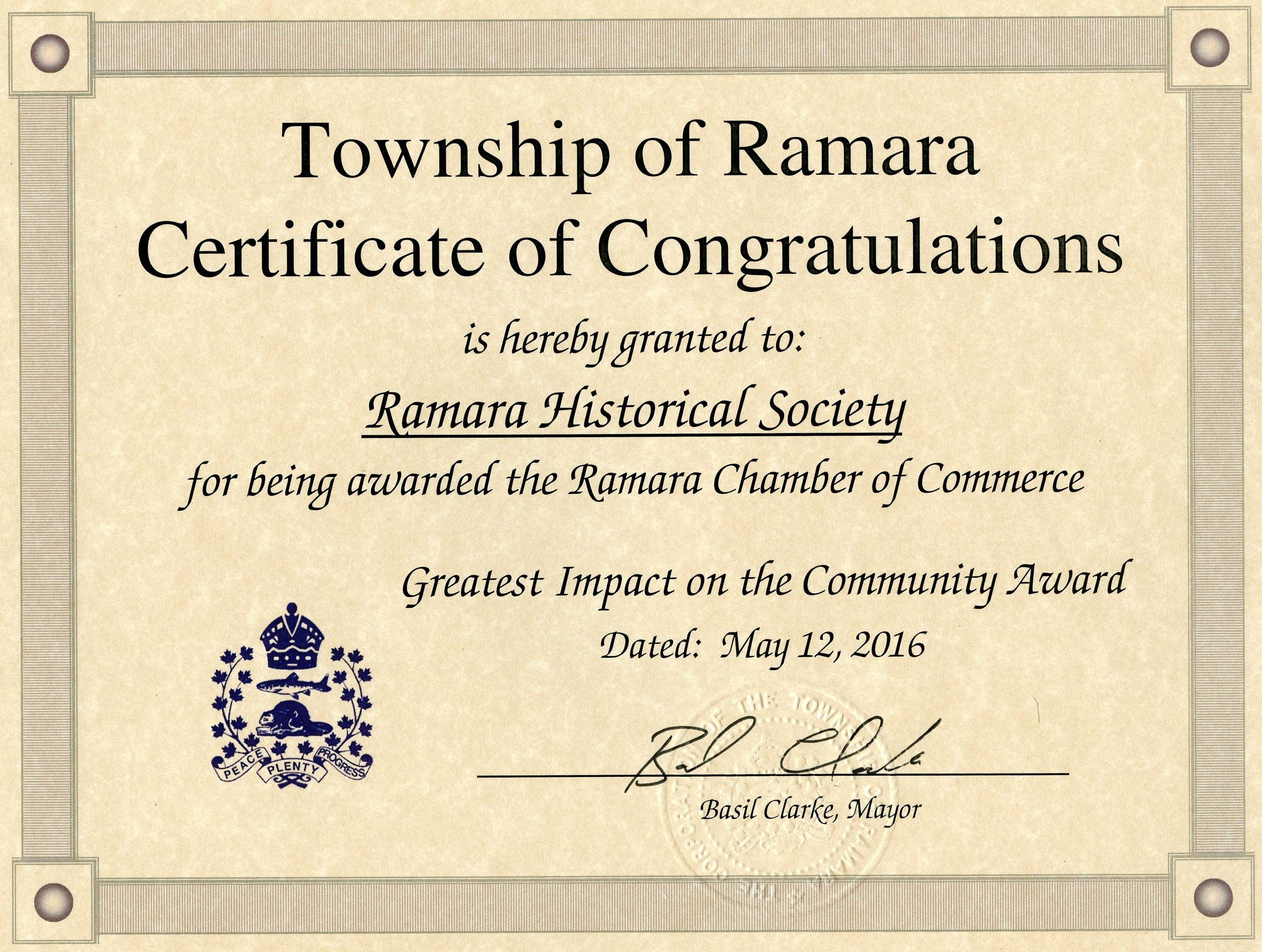 RHS certificaet 1